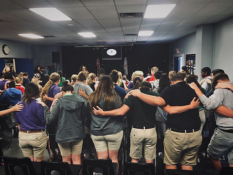 Students Praying