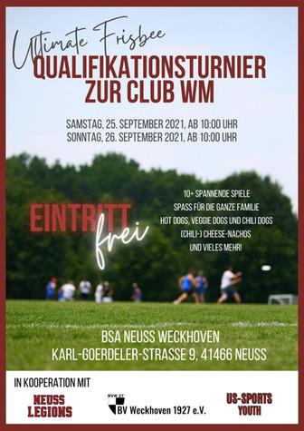 Club-WM im Ultimate Frisbee