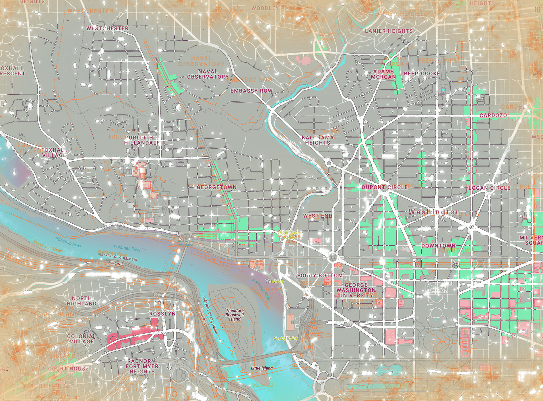 DC Map Dupont - White Dots