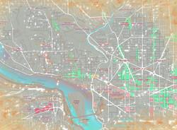 DC Map Dupont - White Dots