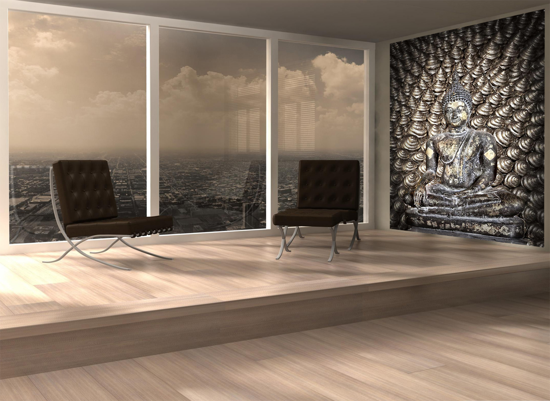 Zen Buddha Mural Yoga Studio Art