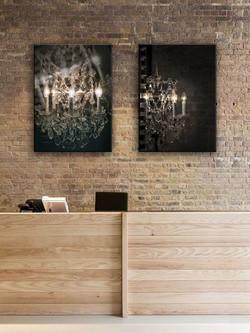 LED Illuminated Chandelier Art