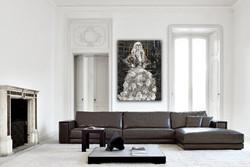 Flower Dress in Modern Livingroom