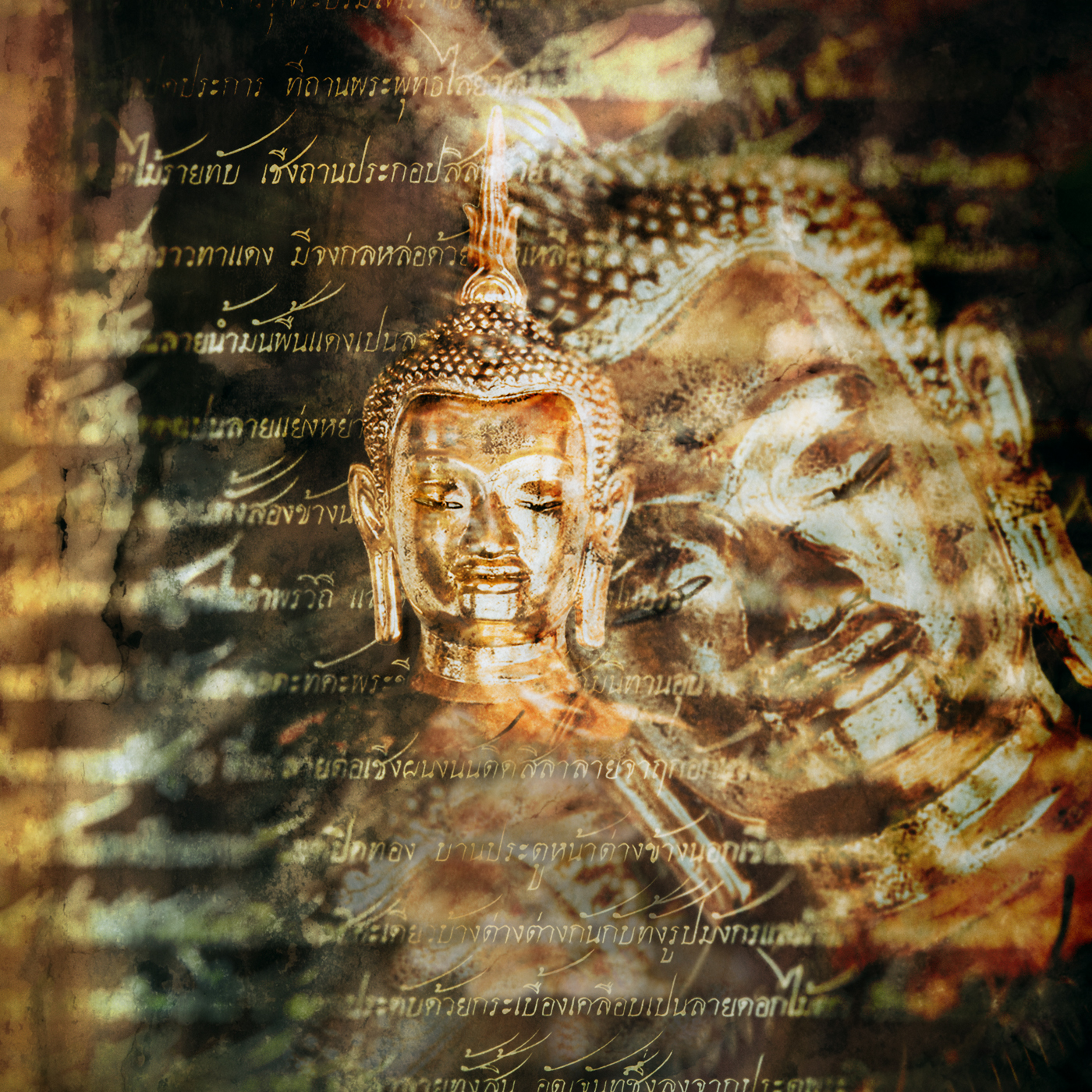 Double Exposure Buddha