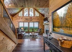 Yellow Tree Art in Mountain Cabin