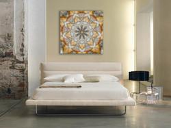 Modern Bedroom Kaleidoscope Art