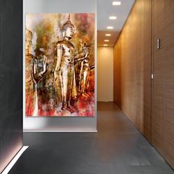 Standing Buddhas Photo Wall Art