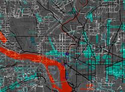 DC Map Landmarks - Black + red