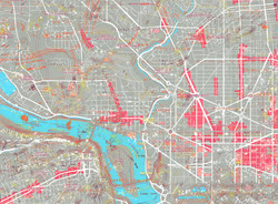 DC Map Landmarks - Grey + pink