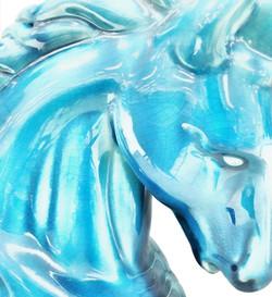 Glass Horse Blue 1919