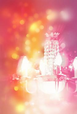 Chandelier Pink & Gold 1645_724