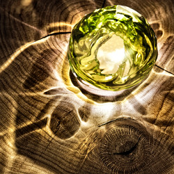 Green Glass Ball 3197