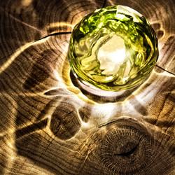 Green Glass Ball 3197