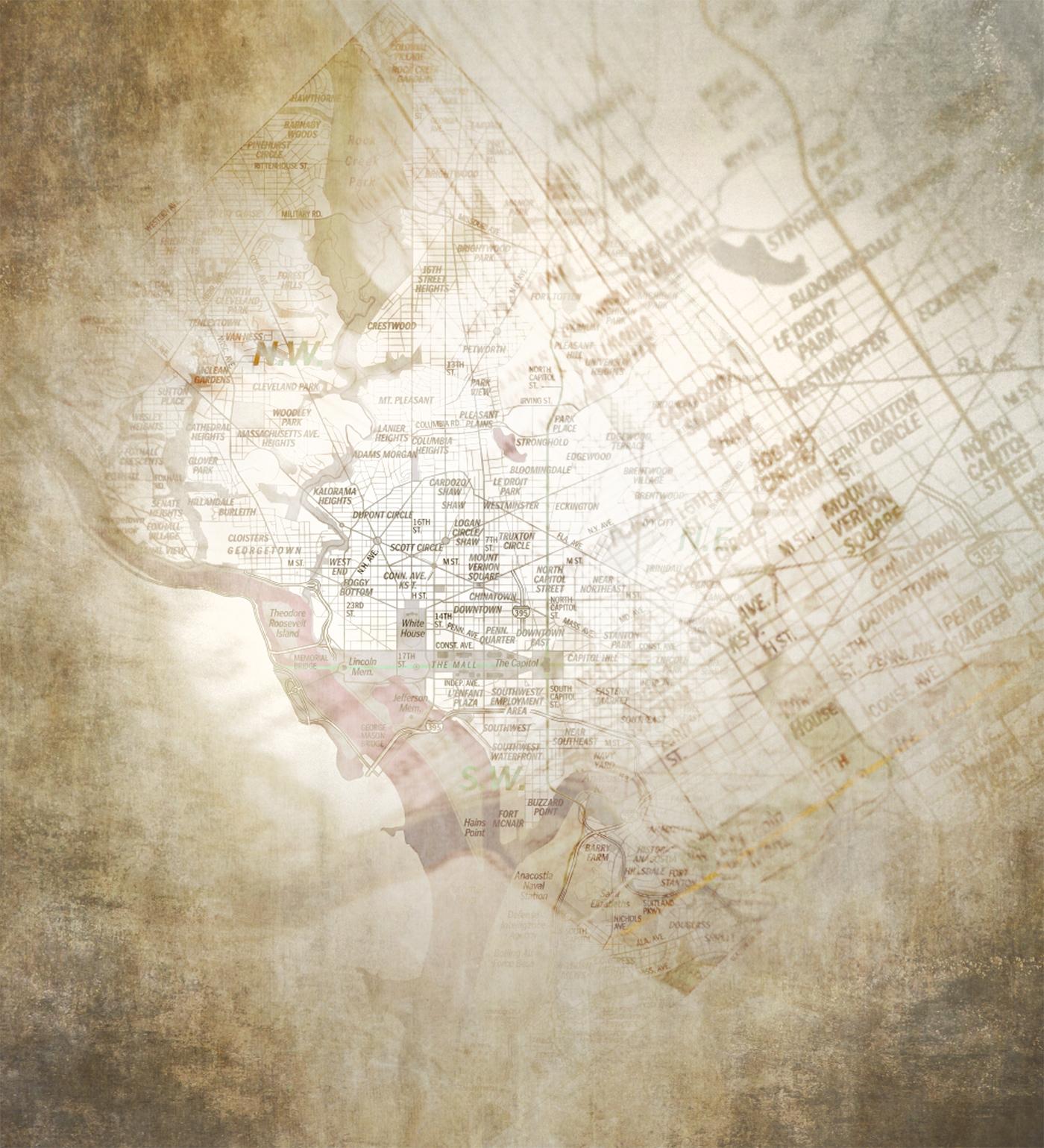 DC Vintage Map