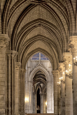 Cathedral Arches   Paris France 1723