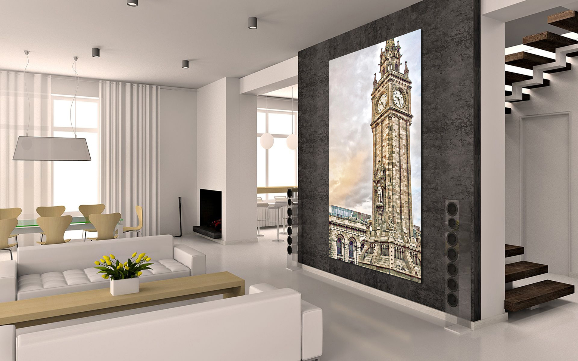 Prince Albert Clock Tower Wall Art