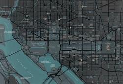 DC Map - Landmarks Inverted