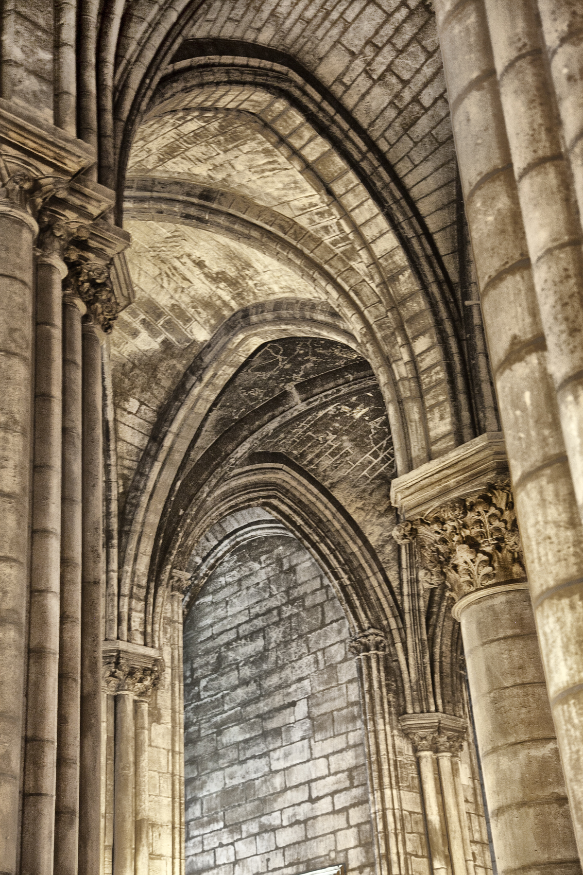 Cathedral Arches | Paris France 1734