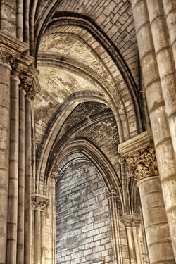 Cathedral Arches   Paris France 1734