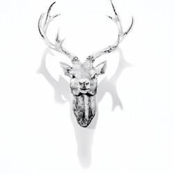 Silver Deer Render 10