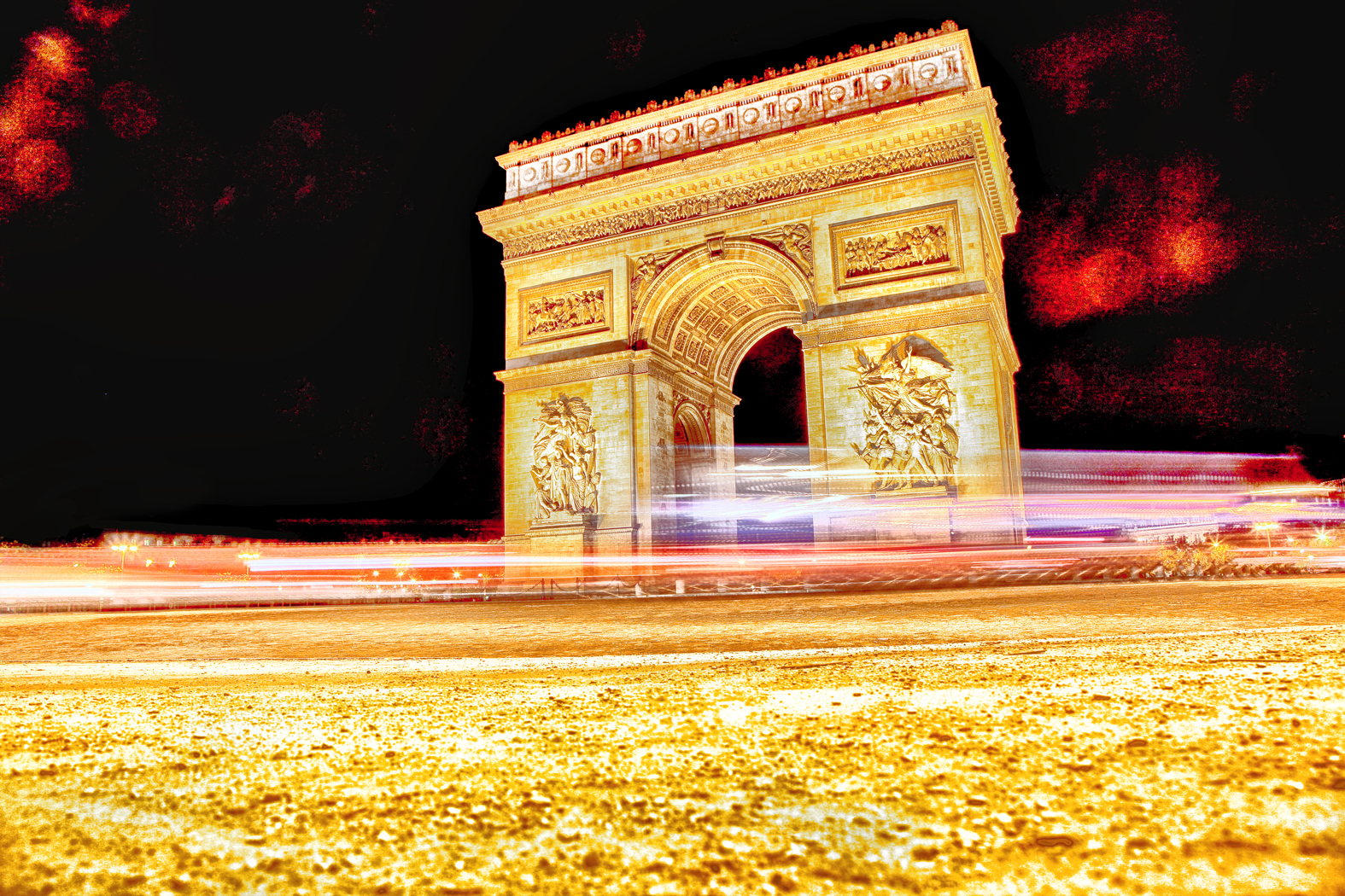 Arc de Triomphe at Night 1331