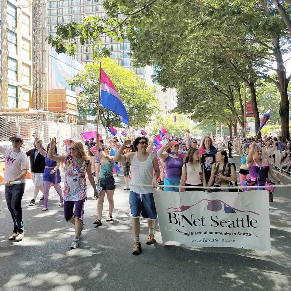 Bisexuals March Seattle Pride 2018