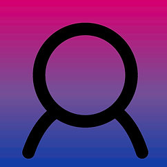 Anonymous Image with Bi Pride Colors