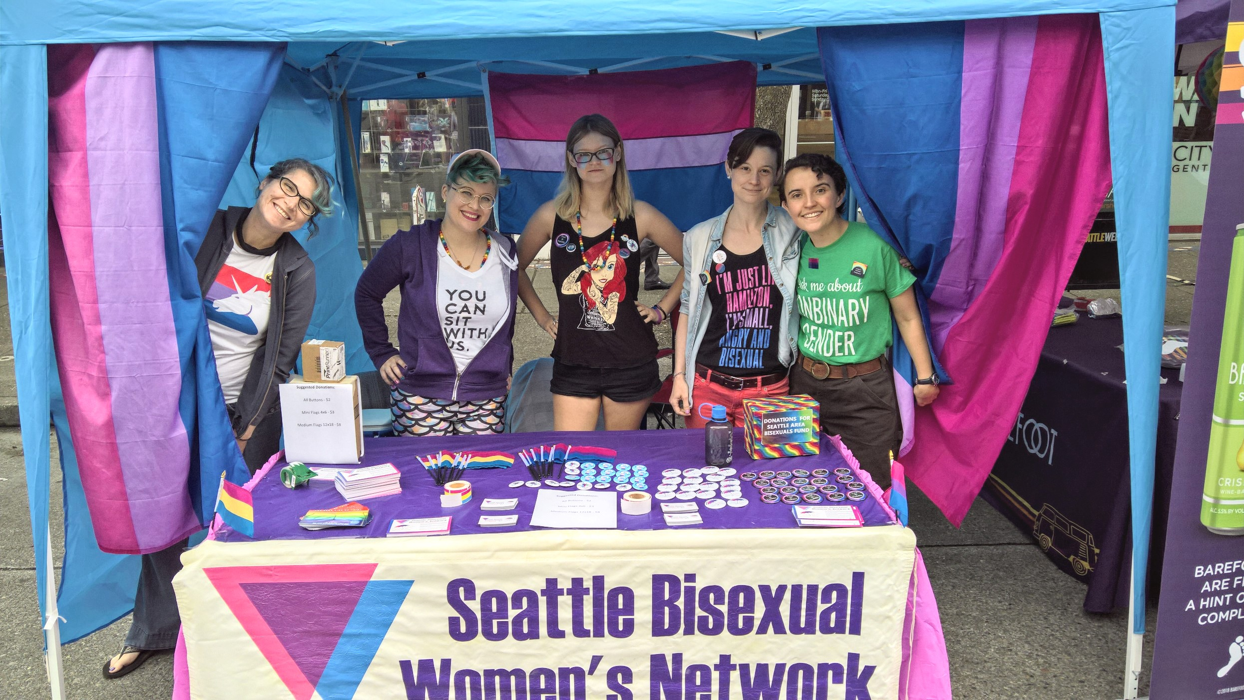 SBWN Booth @ PrideFest Cap Hill 2018