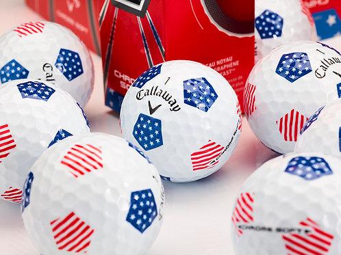 Callaway Chrome Soft Truvis Stars & Stripes Golf Ball