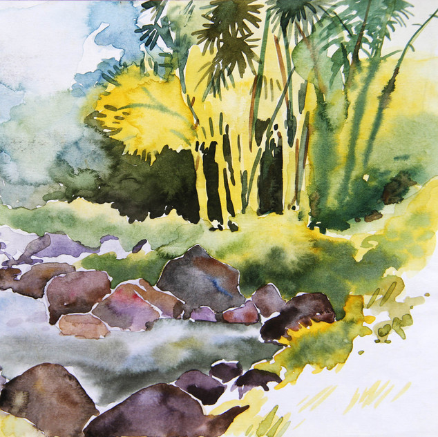 Forest water colour