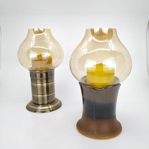 油燈連芯及罩