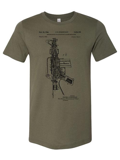 AR-15 Blue Print Tee