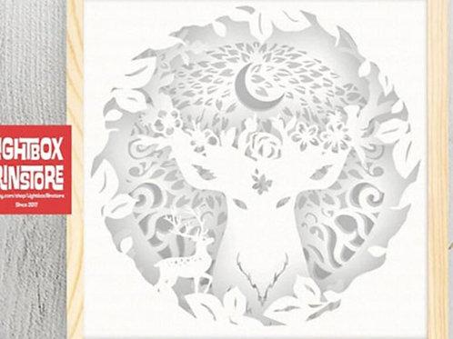 Bogo #97 Home decorations Deer Spirit svg, 3D Shadow box