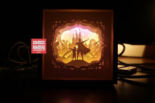 BOGO #161 I love Dad - Super Dad v1 Paper Cut Lightbox Template