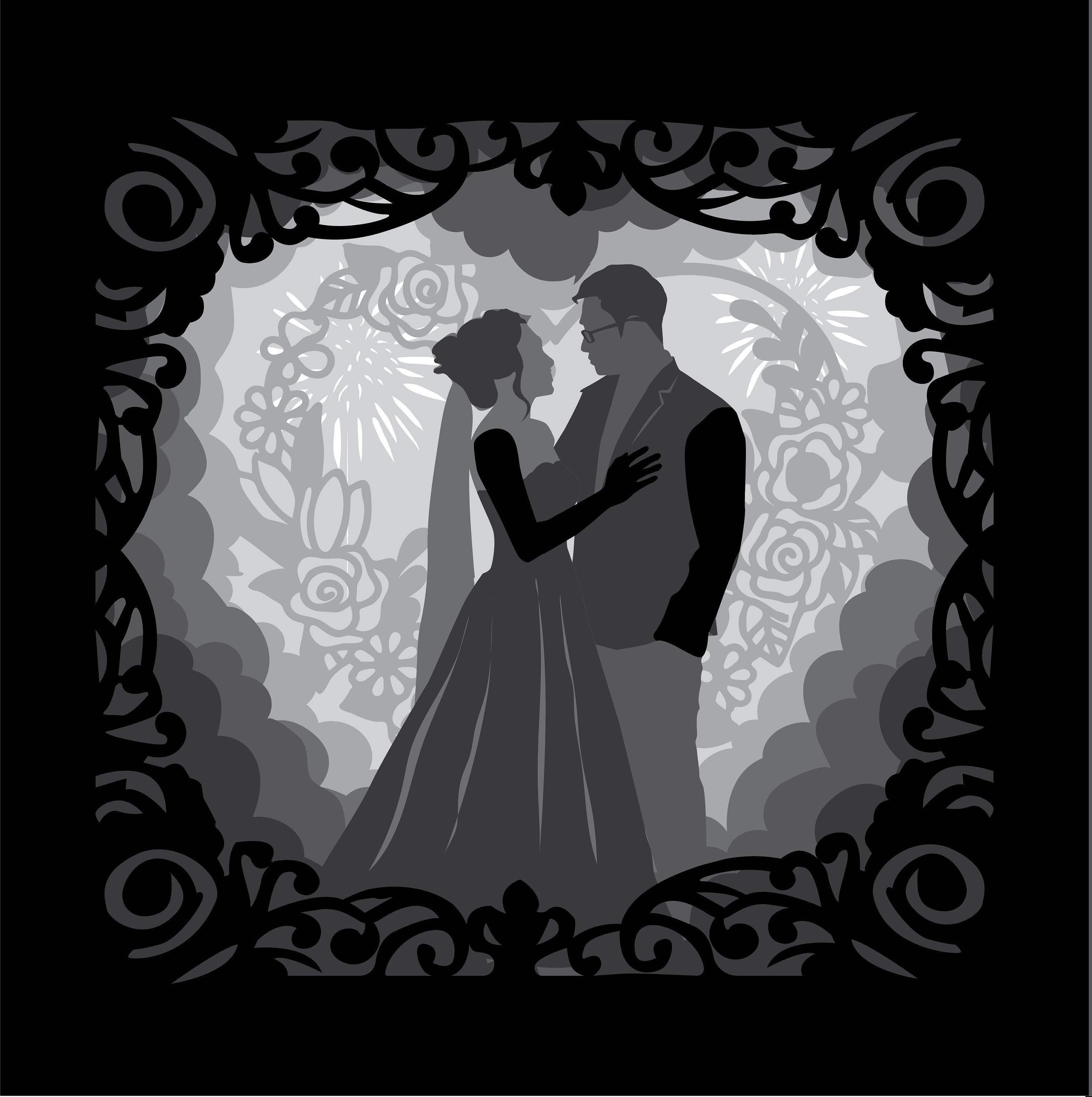 """Download Marry me #54 - Can edit with your shape A4&A3 9""""x9"""")3D ..."""