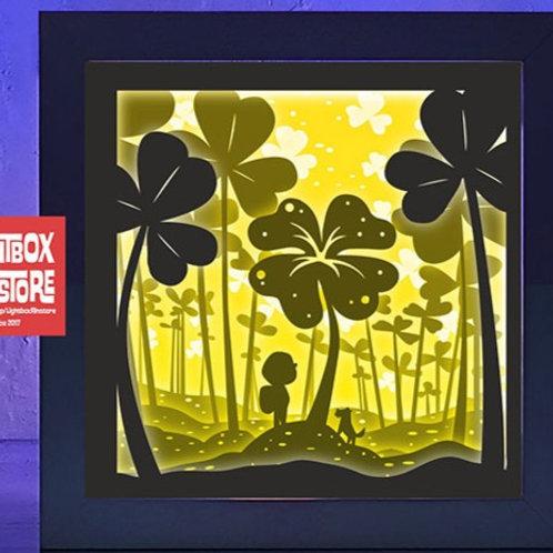 BOGO #60 Lucky boy find clover svg, 3D Shadow box Template
