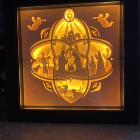 BOGO #83 Merry Christmas-Jesus Christmas svg, 3D Shadow box Template SVG files -3D Paper Cutting Light Box SVG Template files Cricut