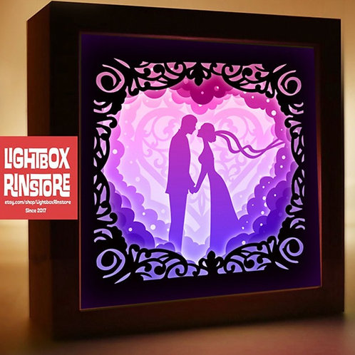BOGO #123 Will you marry me -Paper Lightbox Templates SVG 3d Lightbox Templates