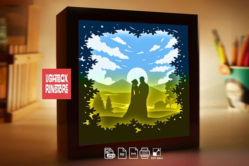 #230 Love you so much  -Paper Lightbox Templates SVG 3d Lightbox