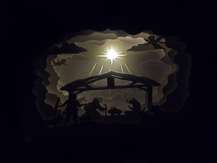 BOGO #1 Merry Christmas- Jesus Christmas svg, 3D Shadow box Template SVG files -3D Paper Cutting Light Box SVG Template files Cricut