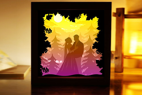 #206  Love you so much  -Paper Lightbox Templates SVG 3d Lightbox