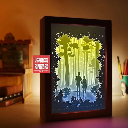 BOGO #178 Love you forever  -Paper Lightbox Templates SVG 3d Lightbox