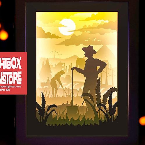 BOGO #79  Farmers, 3D Shadow box Template svg