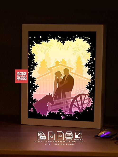 BOGO #198  Love you so much  -Paper Lightbox Templates SVG 3d Lightbox