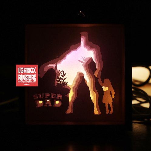 BOGO #176 I love Dad - Super Dad Paper Cut Lightbox Template