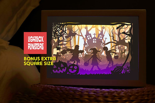 #194 Happy Halloween  svg, 3D Shadow box Template SVG files