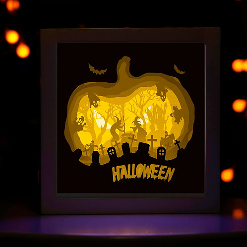 BOGO #171 Halloween  svg, 3D Shadow box Template SVG files