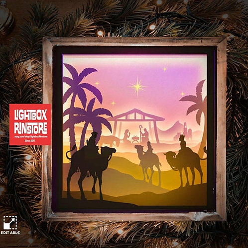 #16 Merry Christmas -Jesus svg, 3D Shadow box Template SVG files