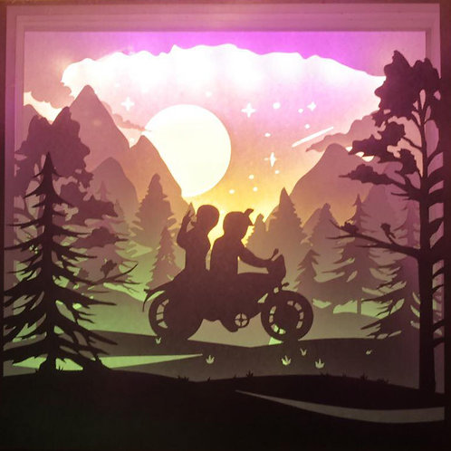 BOGO #142 Come with me everywhere papercut lightbox template