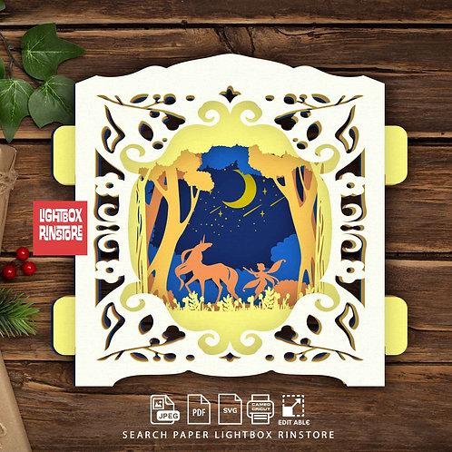 #146 Unicorn ,Papercut pop up card 3D pop up card Template